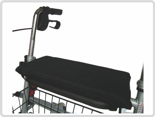 Sitzkissen mit Schaumstofffüllung, rutschhemmende Unterseite, schwarz