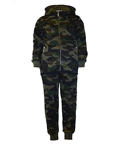 Lotmart Kinder Teenager Camouflage Trainingsanzug Armee Militär Joggen Laufen Anzug 2 Teile Set und ZUGABE Lotmart promotion stift pro parcel - Tarnung khaki, 134-140 (Armee Anzüge Für Kinder)