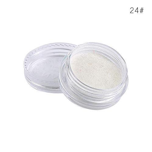 KHKJ Dropship 1pc Glitter Shimmer Eyeshadow Makeup Powder 24 Single Color Pigment Easywear Waterproof Eye Shimmer Shadow Powder TSLM1 -