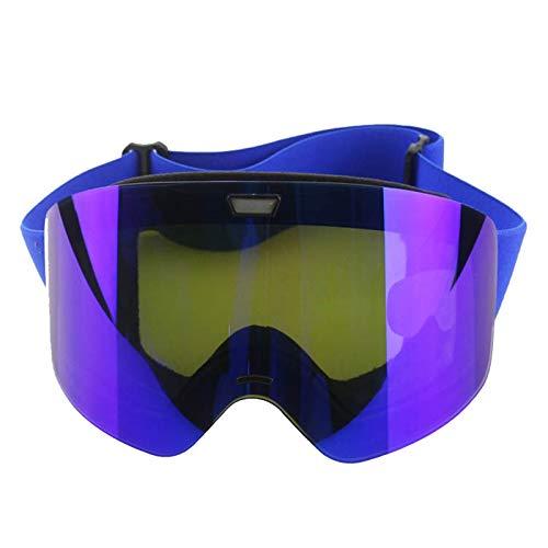 AmDxD PC Schutzbrillen Ski-Schutzbrillen Wintersport Brille Snowboardbrille für Skifahren Schneemobil Skaten, Blau