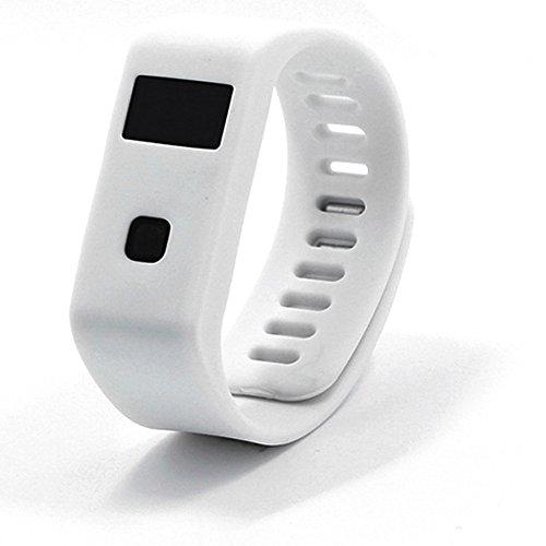 Peibo BL063m impermeabile intelligente braccialetto Bluetooth 4.0monitoraggio del sonno per iOS Android target, monitoraggio del sonno, White