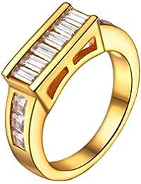 836b79a1aa22 ❤️Regalo para Madre❤ Anillo para Mujer Anillo de Compromiso Chapado en Oro  de