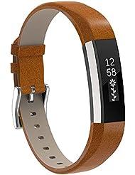 Für Fitbit Alta HR und Fitbit Alta Leder Armband,SnowCinda Verstellbares Ersatzarmband Wristband Unisex Gurt Fitness Zubehörteil mit Metallschließe