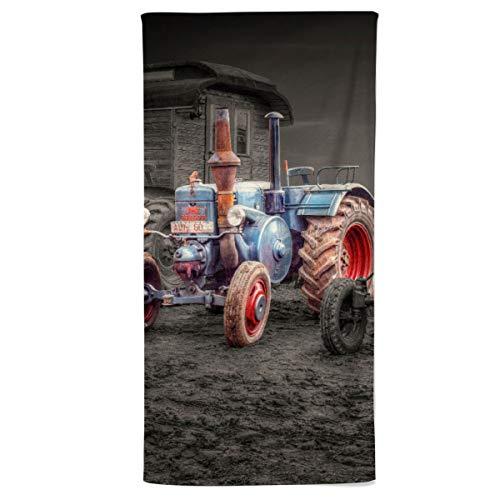 fotobar!style Duschtuch 70 x 140 cm Oldtimer Traktoren Lanz-Bulldog
