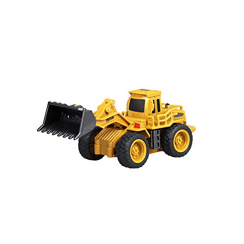 EisEyen 1:64 RC Ferngesteuerter Raupenbagger, Bagger, Truck, Baustellenfahrzeug, Schwerlastkran, Fahrzeug, Komplett Set mit Fernsteuerung 4 Kanal Spielzeug Geschenk für Kinder