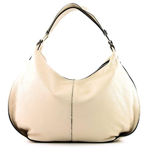 modamoda de -. Ital signore borsa in pelle tracolla borsa tracolla in pelle borsa T143 Creme