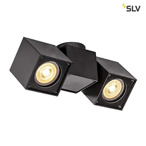 SLV LED Strahler ALTRA DICE dreh- und schwenkbar , Dimmbare Wand- und Deckenleuchte zur Beleuchtung innen , LED Spot, Deckenfluter, Deckenstrahler, Decken-Lampen, Wand-Lampe , 2-flammig, GU10, E-A++ - Slv Led