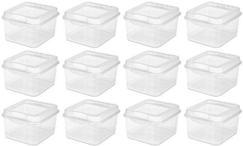 Sterilite Kunststoff FlipTop Latching Aufbewahrungsbox, Transparent (12Stück) 18038612 -