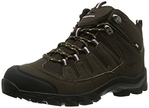 KangaROOS Damen K 3007W Trekking-& Wanderstiefel, Braun (Chocolate/blk/pinkyboo 356), 38 EU