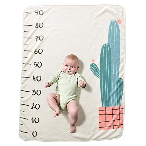 Happy Cherry Baby Neugeborenes Meilenstein-Decke Cartoon Fotohintergrund-Decke Wrap Swaddle Decken für Fotografie