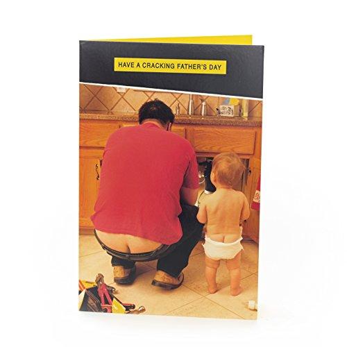 Hanson weiß 346640–0–17,8cm Funny Fotografien Vater 's Day Karte für Dad
