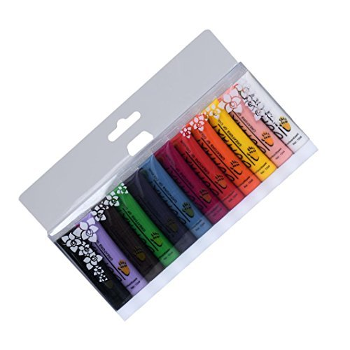 lhwy 1Set 12Farben Malerei Acryl 3D Nail Art Paint Tube Zeichnen Nail Art Tip UV Gel