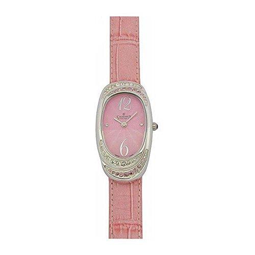 Charmex L's Strap Watch Women's 47mm Pink Calfskin Synthetic Sapphire Watch 5789