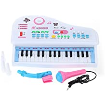 Andoer® Mini Teclado Electrónico Catoon 31 Teclas Juguete de Música con Micrófono Regalo Electone Educativo para Niños Bebés principiantes