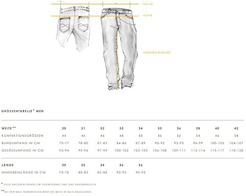 MAC Herren Straight Jeans Jog´n-Light Sweat Denim schwarz (black black clean H896)