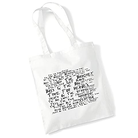 Art Studio Tote Bag - THE LIBERTINES - Up The Bracket - Noir Paranoiac - Music Lyrics Album Art Print Poster Beach Gym Festival Shopper (Beatles Christmas Time)