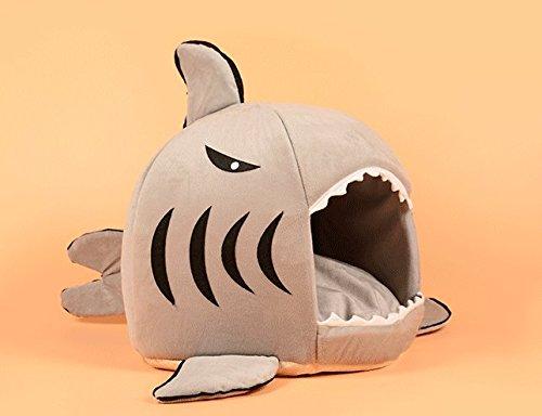 CIDBEST® kreative Shark Warm Kuschelhöhle Haustier/Katzen/Schlafplätze Pet House Haustiere Hund-Katze-Welpen-Bett Warm Sofa House Bed Mat Hund Zimmer Kuschelhöhle/Hundehöhle - 2