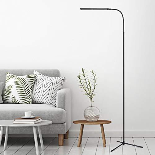 Stehlampe 3-in-1 Dimmbare LED Stehleuchte, SLYPNOS Höhen- und Winkelverstellbare Leselampen, Flexible Schwanenhals Schreibtischlampe mit C-Klemme und Stativfuß, Energiesparende Stehlampe
