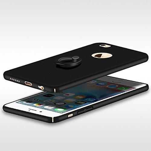 Casefashion iPhone 6 / iPhone 6s 4.7 inch Cover Ultra Slim, Ultra Sottile PC Custodia Anello Protettivo Hard Case con Rotating Ring Grip Stand Holder per iPhone 6 / iPhone 6s 4.7 inch , Rosso Doro