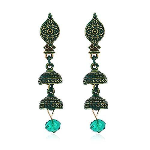 tische Persönlichkeit Ohrringe Fashion Indian Lange Ohrringe, Für Hochzeit Daily Casual Masquerade Engagement Party Prom,Green ()
