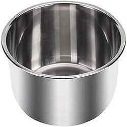 Instant Pot® Innentopf aus Edelstahl (6 Liter) mit gekapseltem Dreischicht-Sandwichboden (Impact Bonding-Technologie)