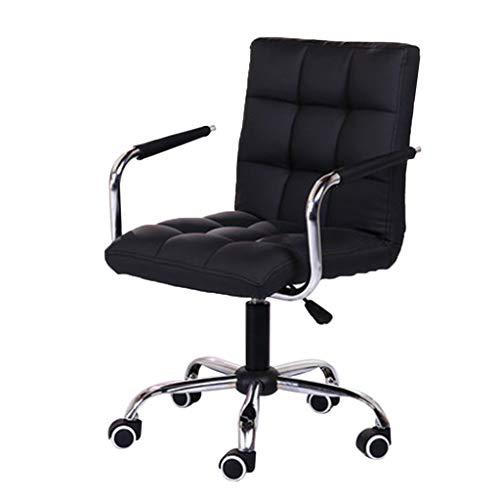 DSFSGFG Einstellbare Bürostuhl Mode Lässig Lift Stuhl Büroarbeitsstuhl Schönheitssalon Stuhl Schwarz Computerspiel Stuhl Liegender Sitz