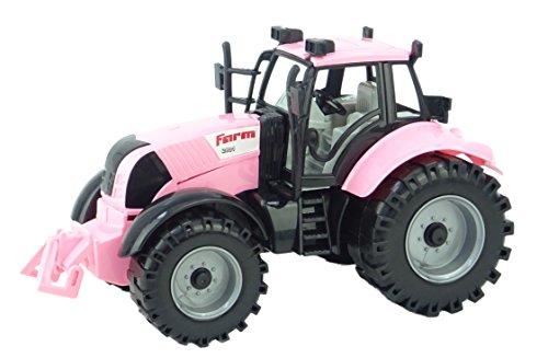 Toyland® Tractor Agrícola impulsado por Fricción con Bonete de Apertura en Rosa ...