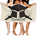 Xunulyn Bath Towel Beach Towel Spartan Helmet Crossed Swords Lettering Warrior Greek Warrior Typography Bath Towels 31' X 51'