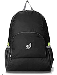 SMILEDRIVE® Lightweight Foldable Backpack Hiking Outdoor Bag- Water Resistant Daypack Nylon Backpacks For Camping...