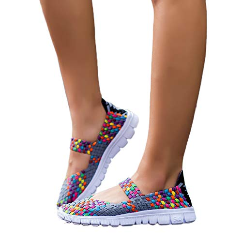 Subfamily scarpe da donna con elastico in tessuto elasticizzato sandali etnici colorati sandali pigri scarpe casual da scarpe sottili e comode san valentino hip-hop