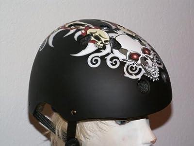 Helm Totenkopf für Skater und Radfahrer Gr L 58-60