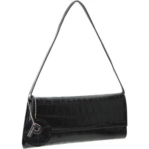 Picard Damen Auguri Clutches, 26x11x3 cm schwarz - kroko