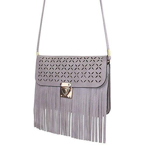 Angies Glamour Fashion, Borsa a spalla donna Grau