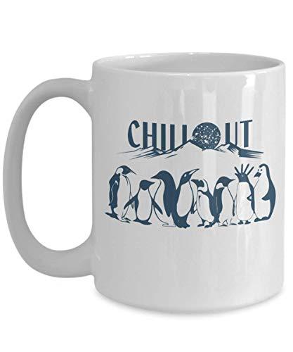 Chill Penguin (errterfte Penguins Mug Polar Ice Cap Chill Penguin Coffee Mug Tea Cup Ceramic Mug Coffee Mug Best Gift)