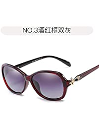 Burenqiq Gafas de Sol polarizadas de Moda Elegante Temperamento Gafas de Sol de Mujer Gafas de