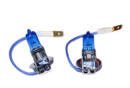 Handycop® 2 x H3 Xenon Optik 12V 55W Halogen Weiß Blau Birnen Lampen 6000K - mit E-Zulassung
