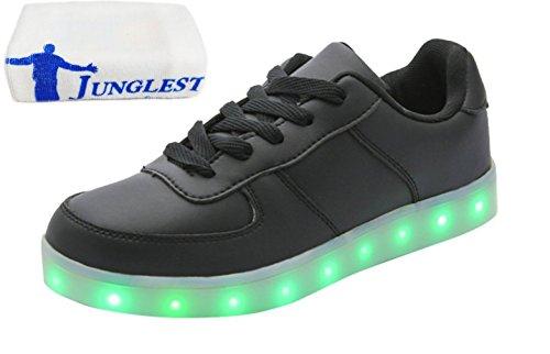 [Présents:petite serviette]JUNGLEST® 7 Couleur Mode Unisexe Homme Femme USB Charge LED Lumière Lumineux Clignotants Chaussures de ma c7