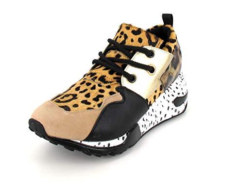 5d20c06c67a Steve Madden Damen Cliff Hohe Sneaker Mehrfarbig (Animal 911) 39 EU
