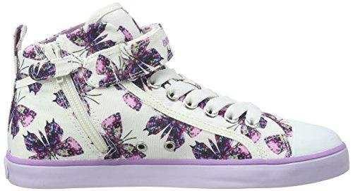 Geox Jr Ciak C, Sneakers Hautes Fille Blanc (C1000)