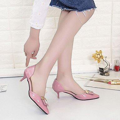 LvYuan Da donna Sandali Comoda Gomma Estate Footing Comoda Fibbia Basso Bianco Grigio chiaro Rosa Meno di 2,5 cm blushing pink