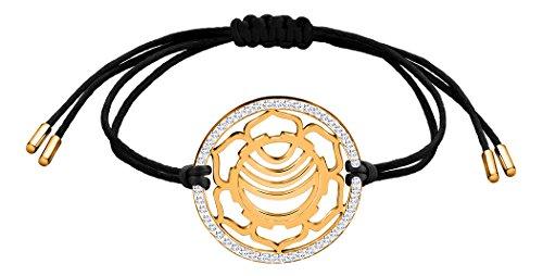 Nenalina Damen Armband mit Sakral – Swadhistana Chakra Anhänger in 925 Sterling Silber vergoldet mit Swarovski Steinen besetzt 863360-501