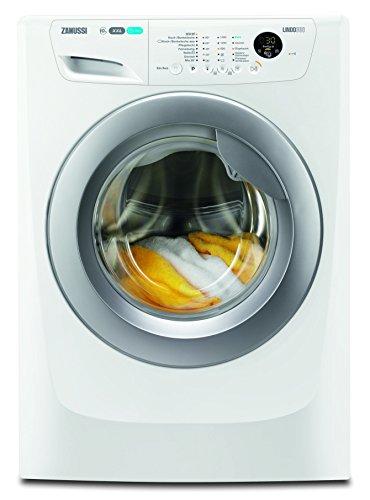 Zanussi ZWF01483WR Waschmaschine Frontlader / Weiß / 10 kg XXL-Schontrommel / sparsamer Waschautomat mit Mengenautomatik / Bügelquick-Programm / 190,0 kWh pro Jahr