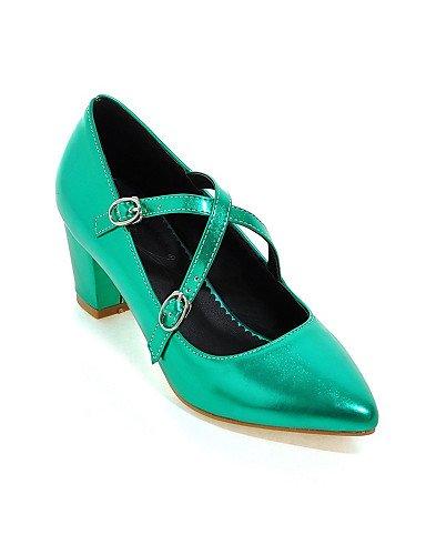 WSS 2016 Chaussures Femme-Habillé / Soirée & Evénement-Vert / Rose / Rouge / Argent / Or-Gros Talon-Talons / Bout Pointu-Talons-Similicuir red-us9 / eu40 / uk7 / cn41