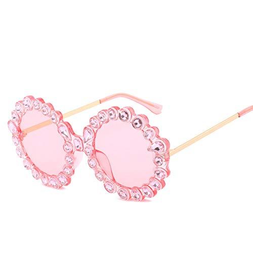 LLISA Retro Sonnenbrille-Frauen-Markendesigner-runde Rahmen-Diamant-Sonnenbrille-weibliche Sonnenbrille für Dame Mirror Uv400,4