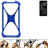 K-S-Trade Handyhülle für Blaupunkt SL Plus 02 Silikon Schutz Hülle Cover Case Bumper Silikoncase TPU Softcase Schutzhülle Smartphone Stoßschutz, blau (1x)