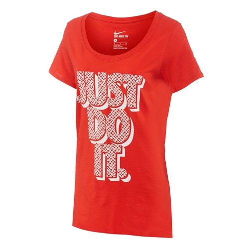 NIKE T-shirt Boyfriend Lynx JDI Rouge - Challenge Rot/Weiß