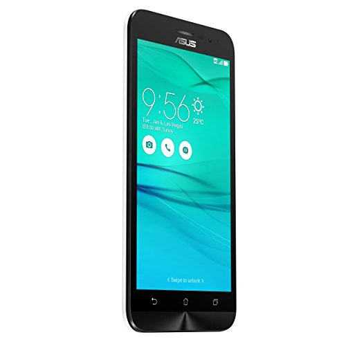 Asus ZenFone Go (ZB500KL) Dual-SIM Smartphone (5 Zoll (12,7cm) HD Touch-Display, 16 GB Speicher, Android 6.0) weiß (6 Asus Smartphone)