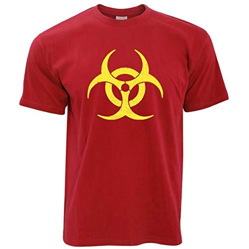 Biohazard Distressed Logo Warnung Gefahr Gefährliche Zeichen kühles Geschenk Herren T-Shirt -