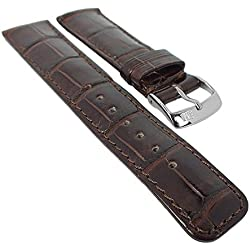 Morellato Tipo for IWC Replacement Band Genuine Crocodile Brown Leather Watch Strap 20mm 29470