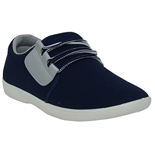 Corpus Men's Navy Grey Synthetic Leather Casual Shoes 7